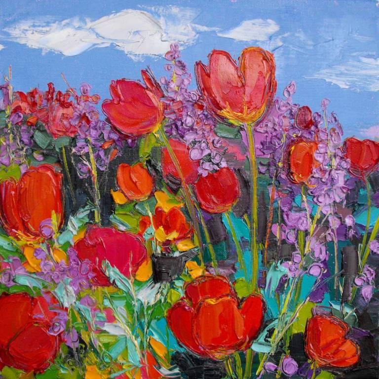 Judith I. Bridgland - Bed Of Tulips