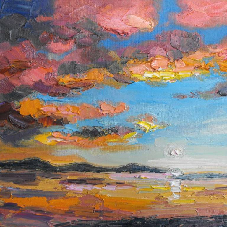 Judith I. Bridgland - Evening Clouds, Summer Isles