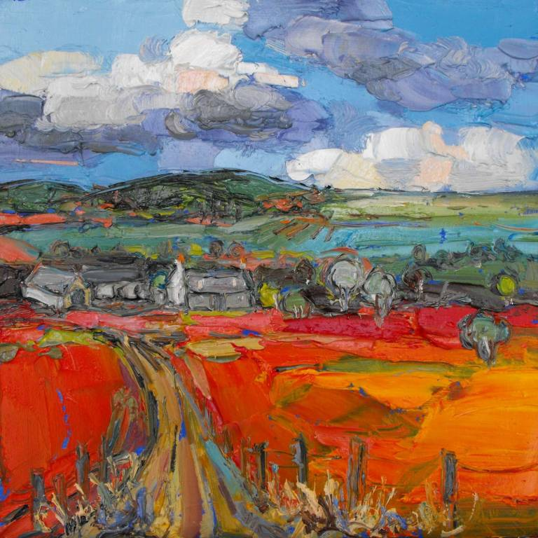 Judith I. Bridgland - Gathering Clouds Over Farm, Glenlivet
