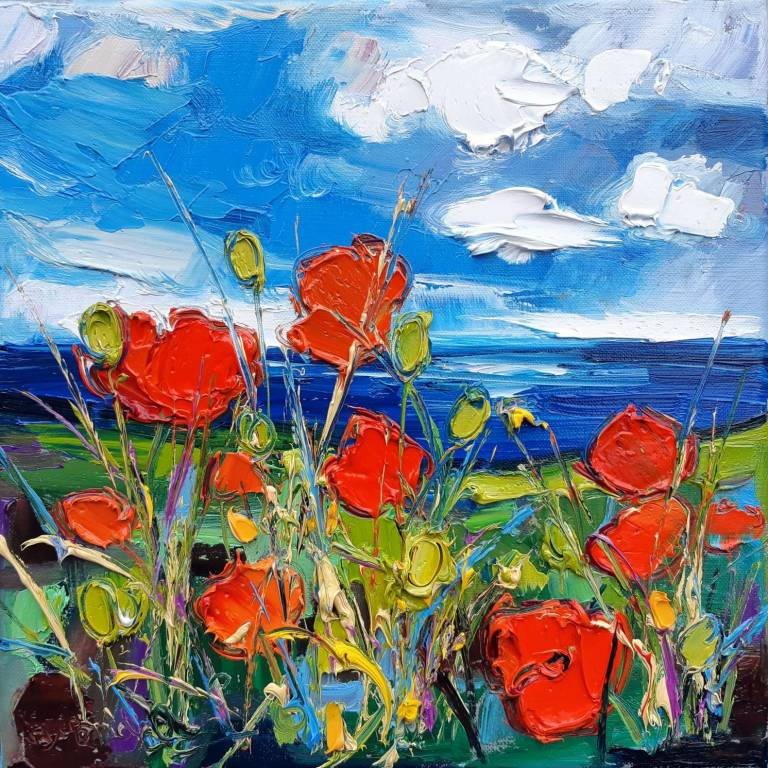 Judith I. Bridgland - Poppies By The Sea