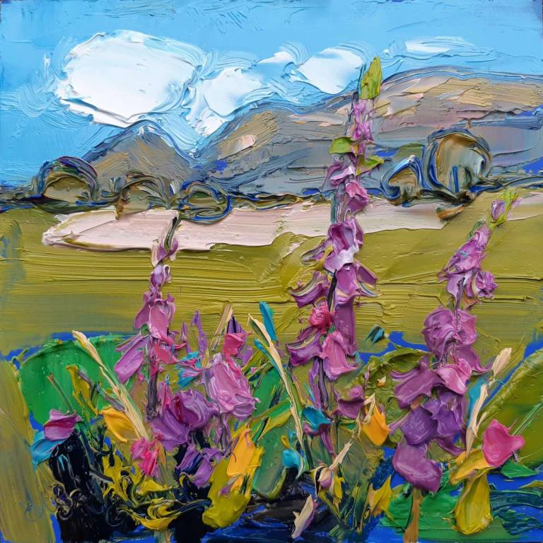 Judith I. Bridgland - Foxgloves, Looking Towards the Campsies