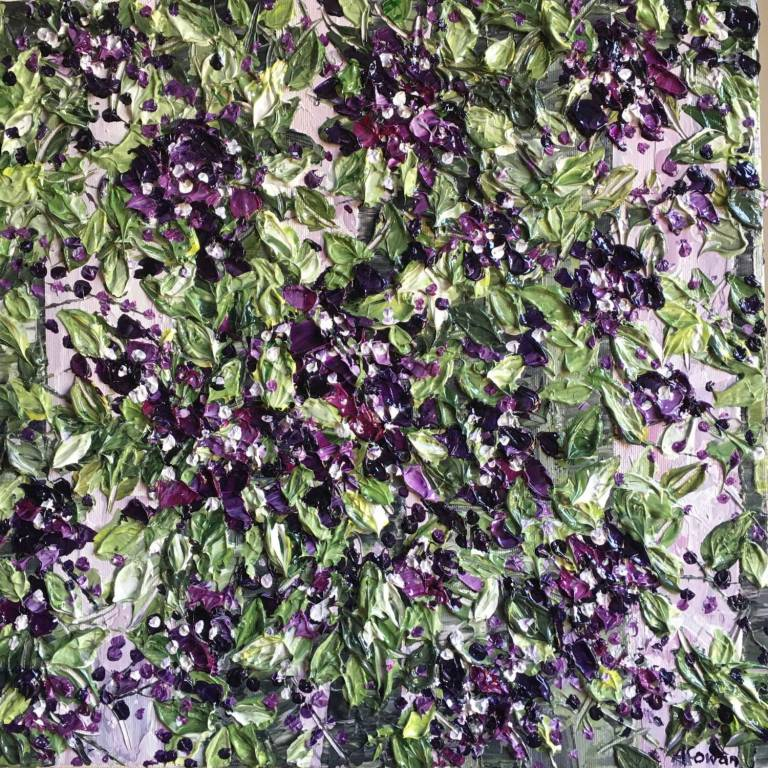 Alison Cowan - Foliage With Purple Blooms