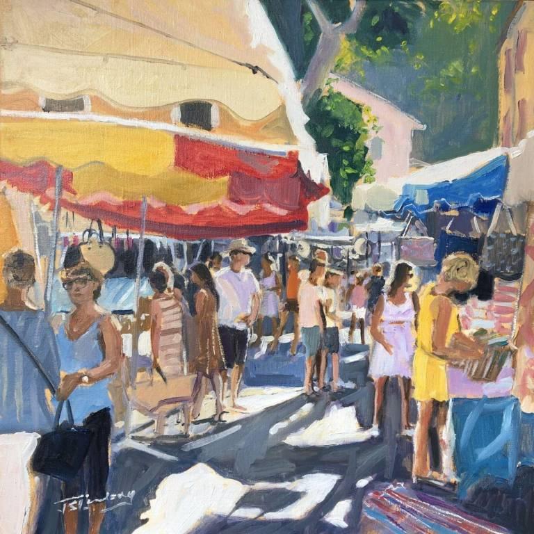 James Somerville Lindsay - Morning Light, Cotignac, Provence