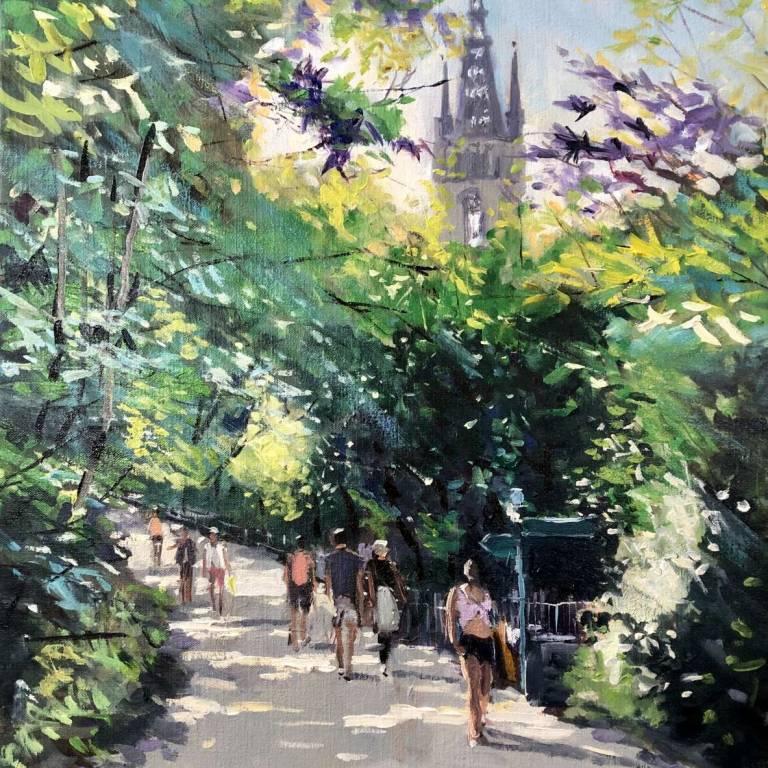 James Somerville Lindsay - Summer Stroll Kelvingrove Park