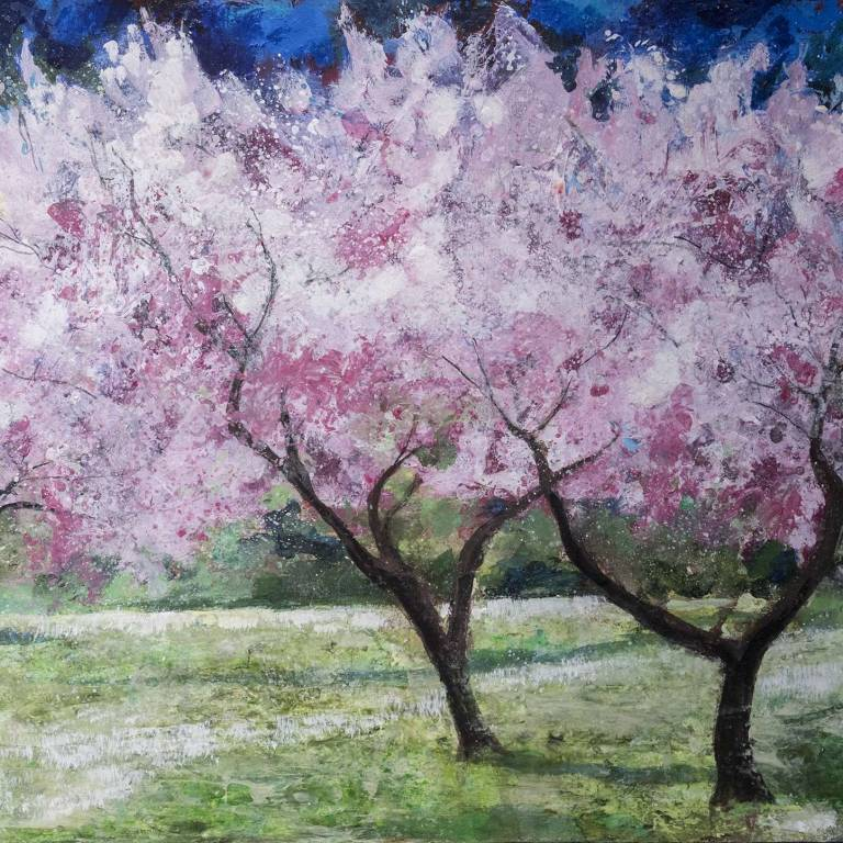 Ann Oram RSW - Blossom Trees in the Meadow
