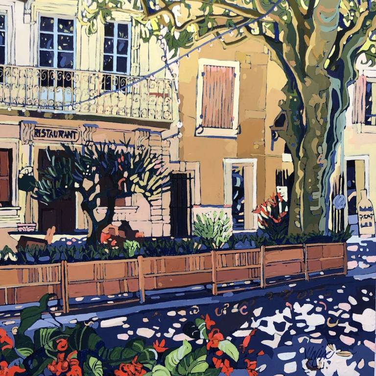Jennifer Irvine RGI RSW - Gigondas Shade, Provence