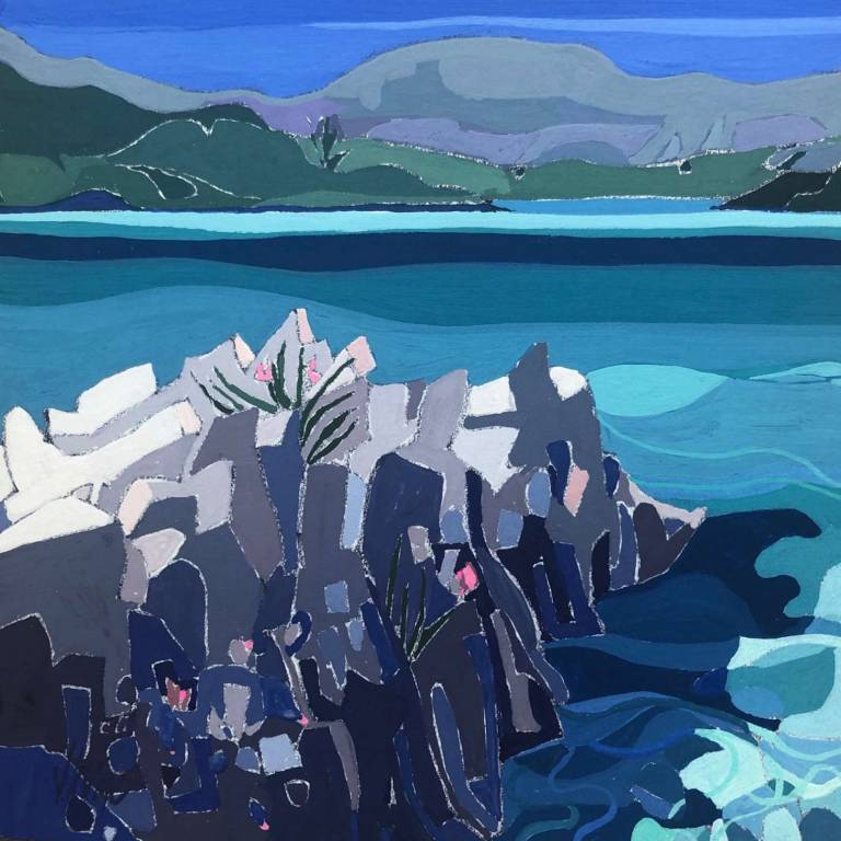 Jennifer Irvine RGI RSW - Rocky Shoreline Lunga Bay