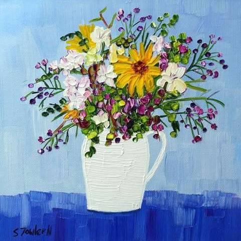 Sheila Fowler - Freesia and Wildflowers