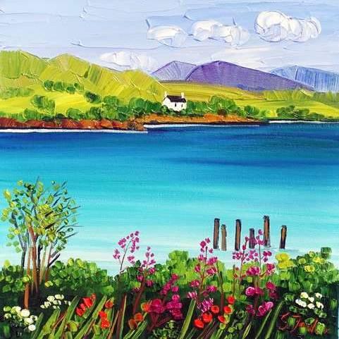 Sheila Fowler - Wildflowers Loch Lomond