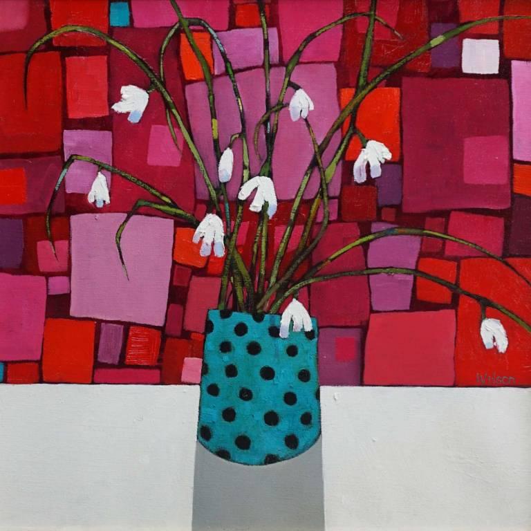 Gordon Wilson - Large Snowdrops and  Kaleidoscopic Blind
