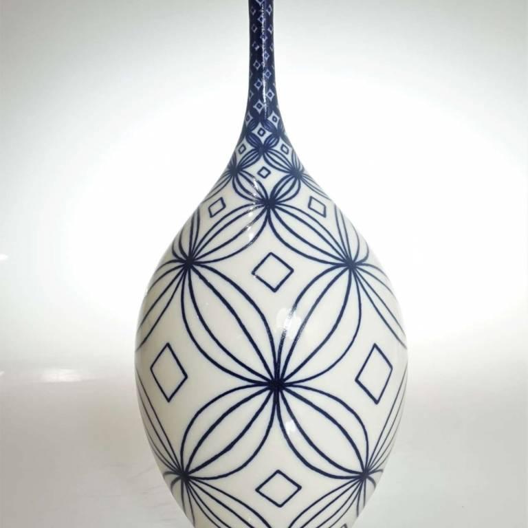 Large White Frangipani Bottle