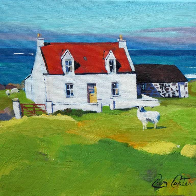 Pam Carter - Red Roof & Ewe