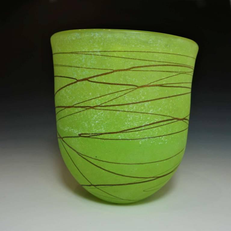 Random Open Vase Medium Lime