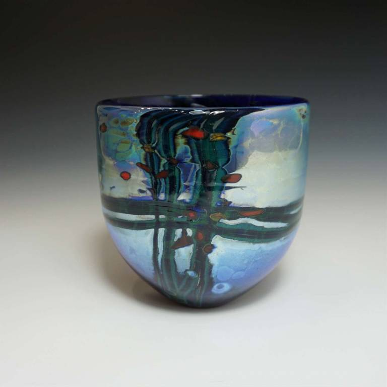 Will Shakspeare  - Small Blue Lustre Rocks Bowl