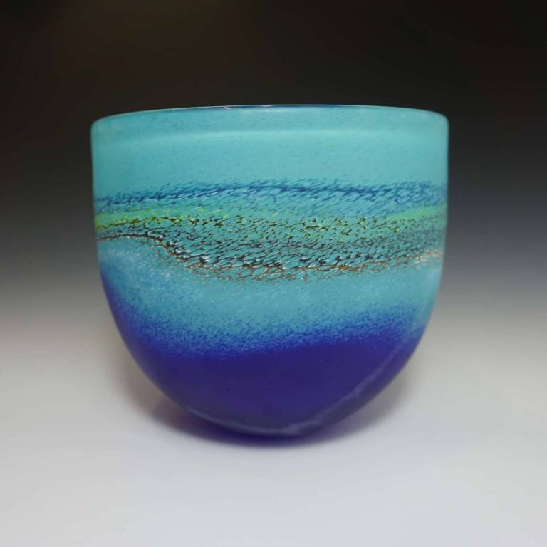 Will Shakspeare  - Medium Aqua/Blue Coast Bowl