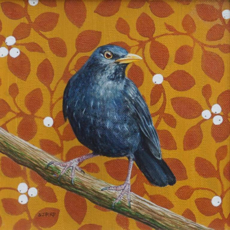 Stanley Bird - Blackbird & Mistletoe