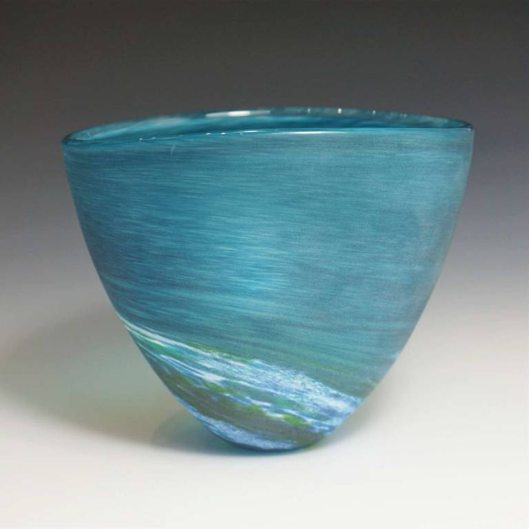 Richard Glass - Seaspray Bowl Aqua