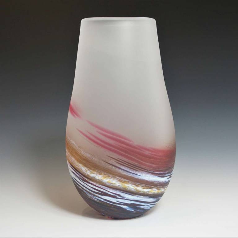 Richard Glass - Seaspray Tall Bud Vase Red