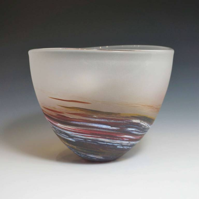 Richard Glass - Seaspray Bowl Red