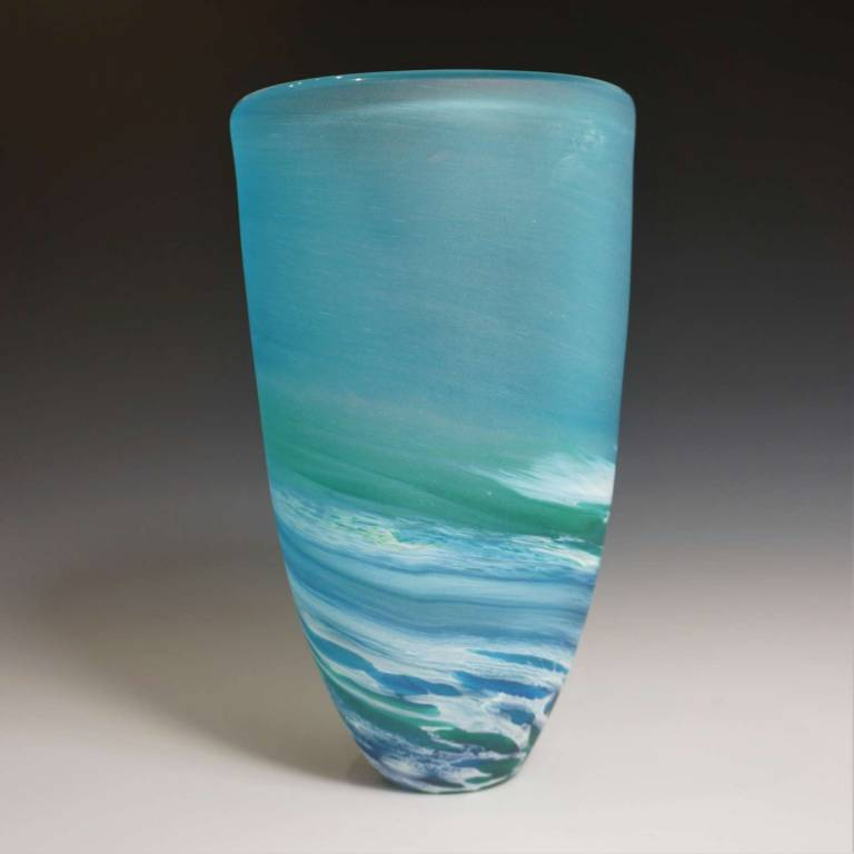 Richard Glass - Seaspray Tall Vase Blue
