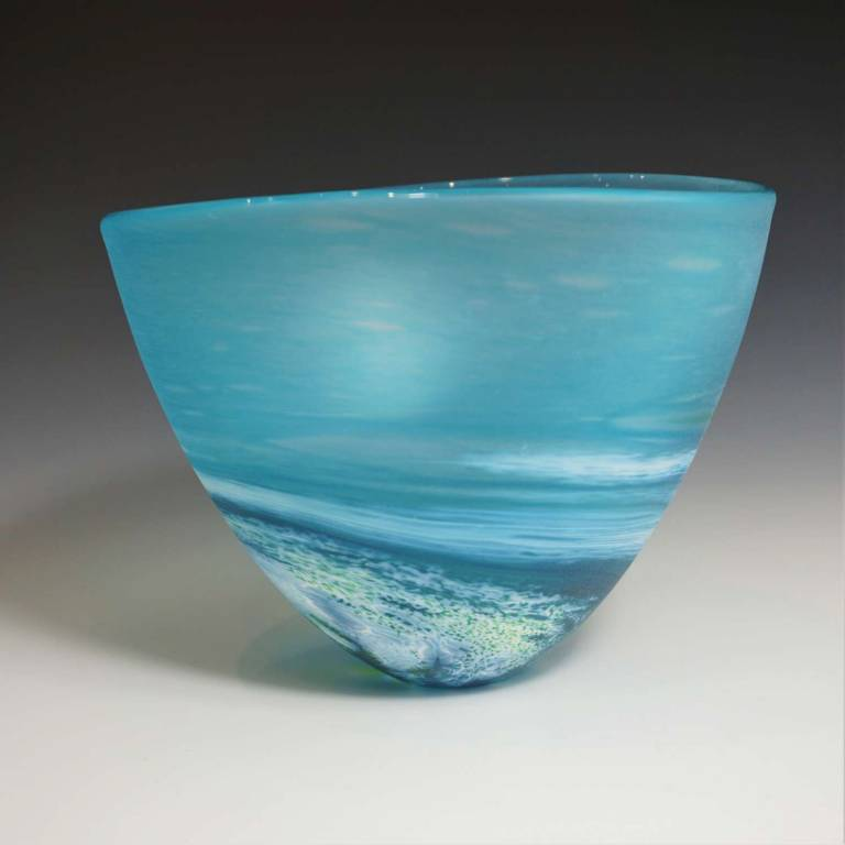 Richard Glass - Seaspray Bowl Blue