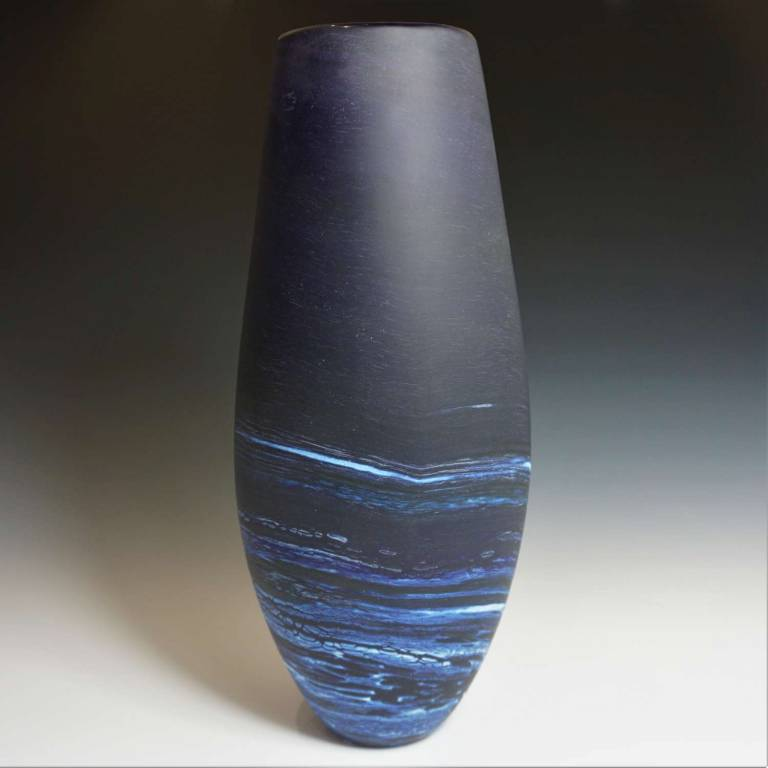 Richard Glass - Seaspray Vase Extra Tall Purple