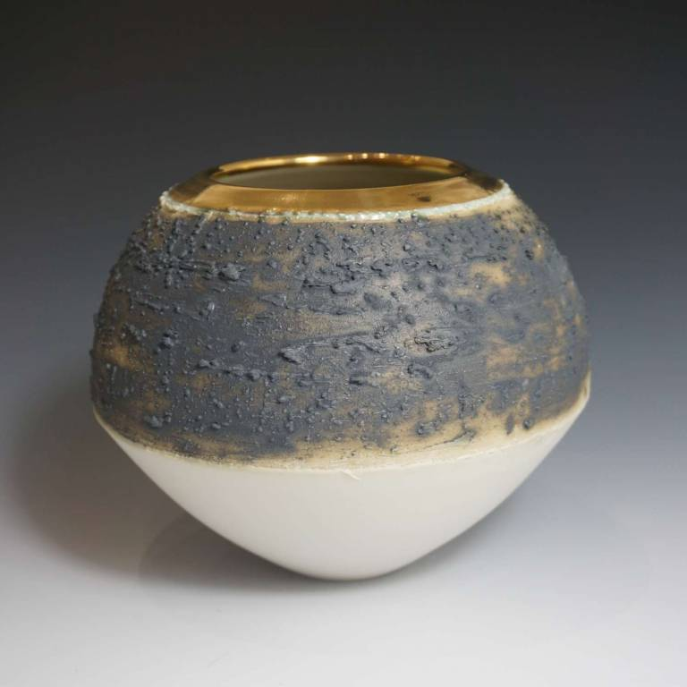 Alex McCarthy - Textured Ord With Gold Lustre Rim