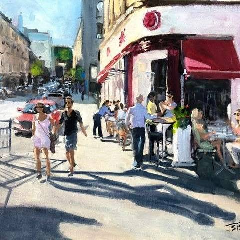James Somerville Lindsay - Summer Smiles On Gibson Street