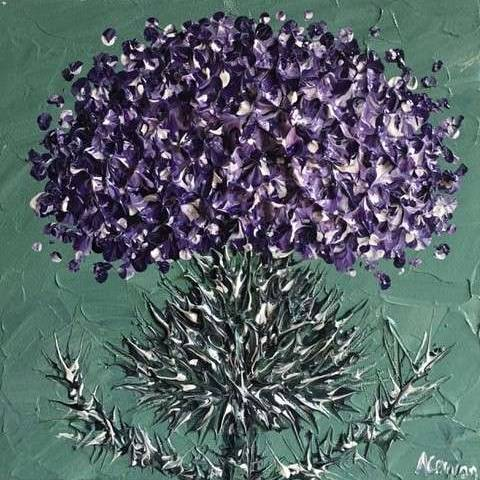 Alison Cowan - Thistle on Sage