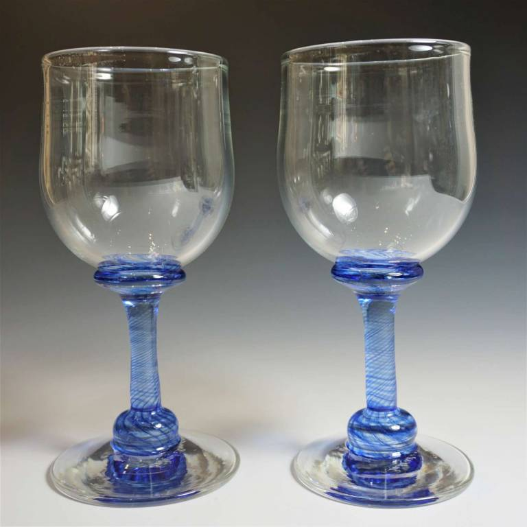 Andrew Sanders & David Wallace - Pair of Tall Angram Glass