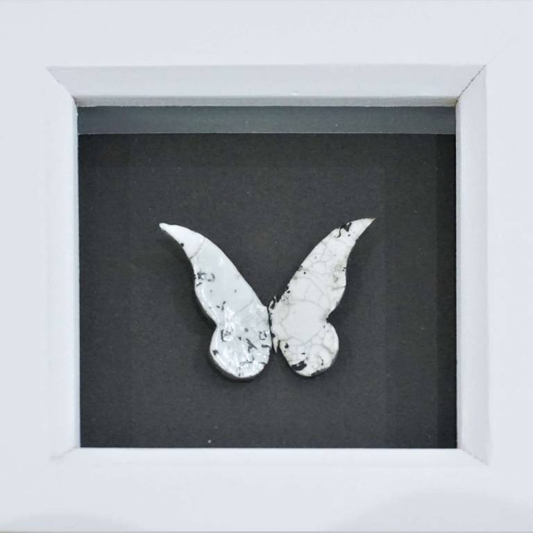 Anna Olson - Butterfly Dark Grey & White