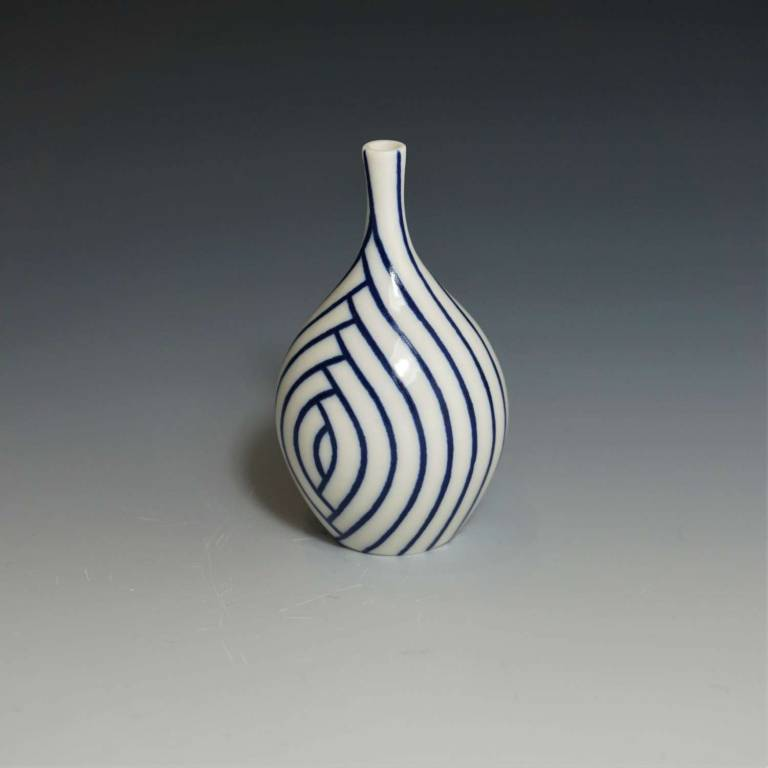 Rhian  Malin - Small Layered Lines Bottle