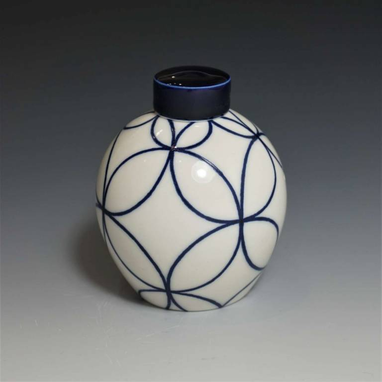 Rhian  Malin - Small Round Double Ring Ginger Jar