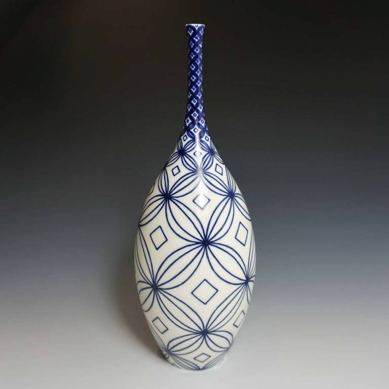 Rhian  Malin - Large Narrow Frangipani Bottle