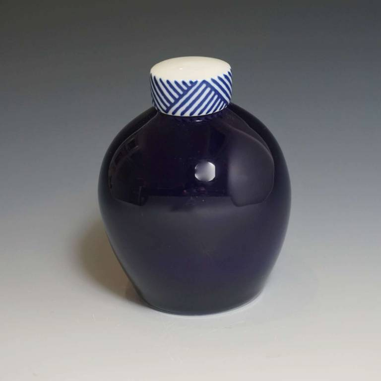 Rhian  Malin - Small Round Cobalt Ginger Jar