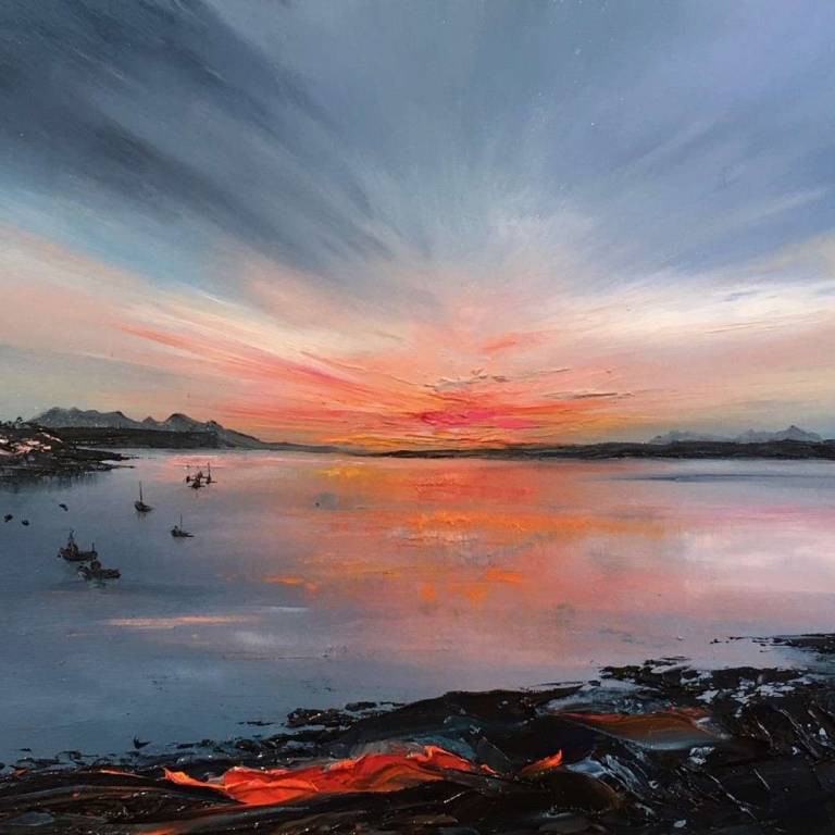 Linda Park - Sunset, The Small Isles from Glenuig