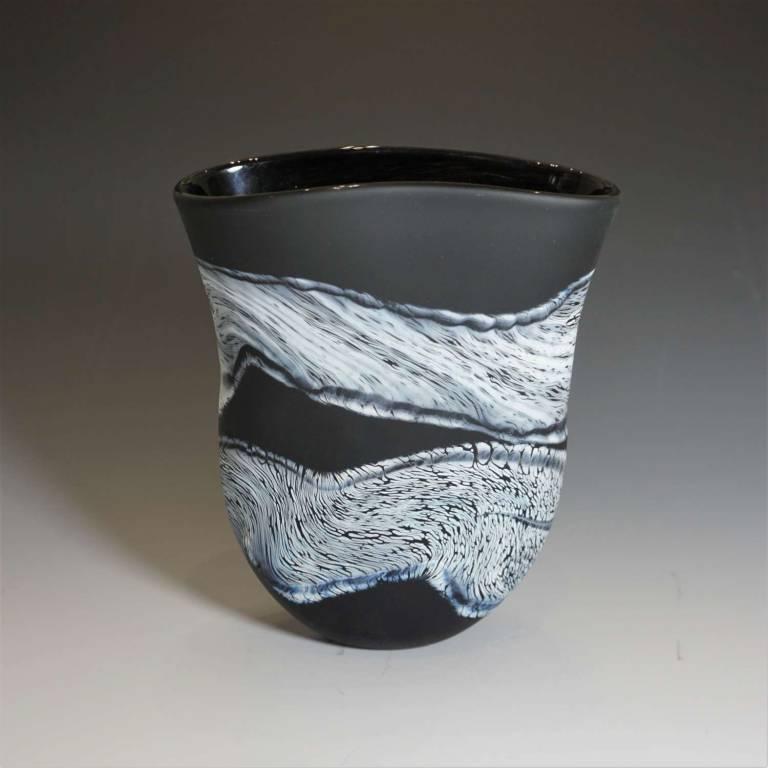 Small Flat Vase Monochrome