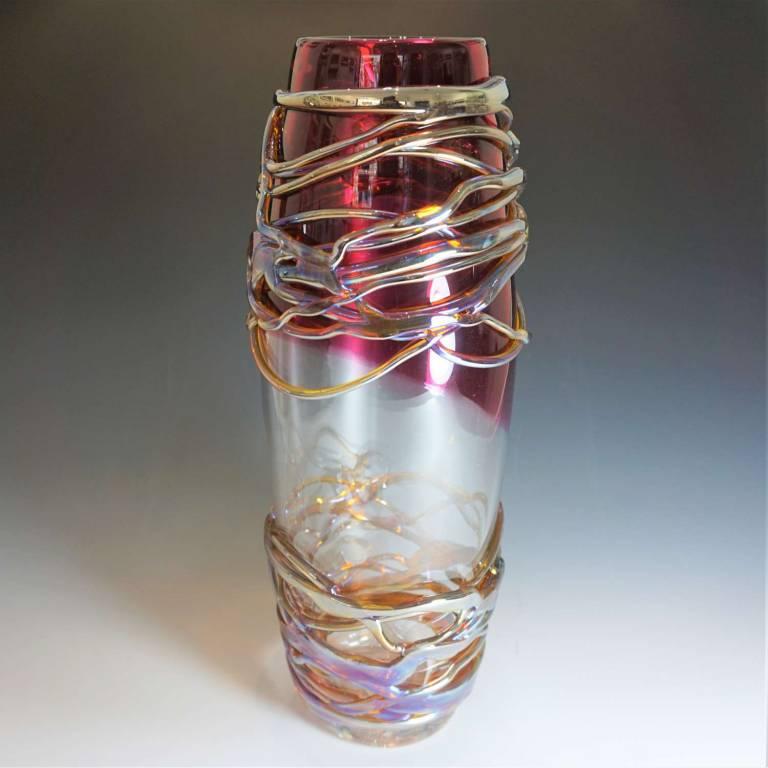 Large Golden Trailing Vase