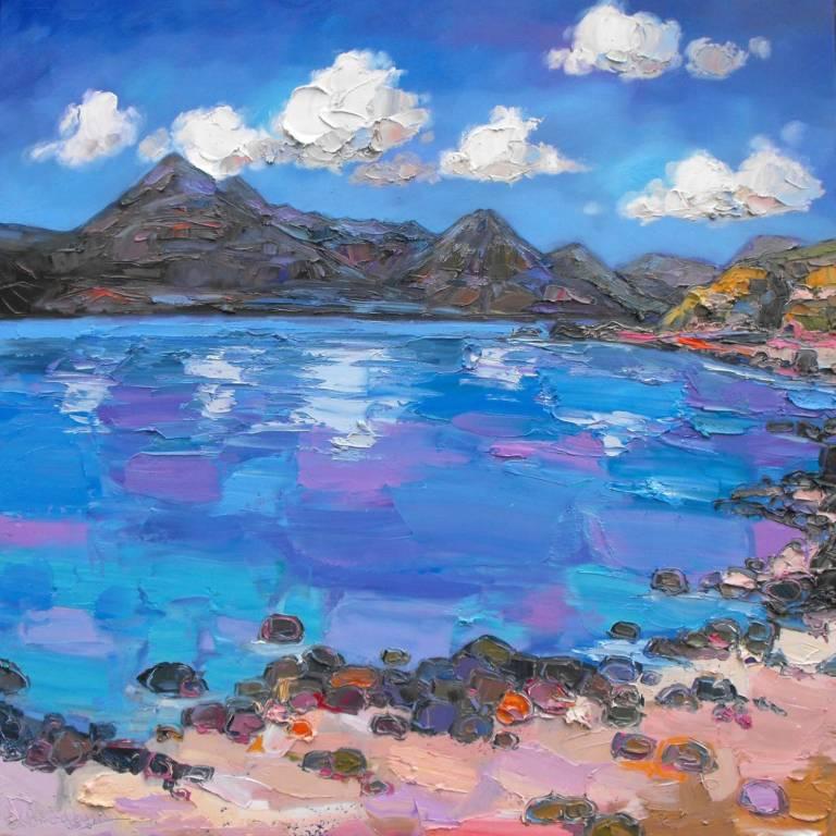 Judith I. Bridgland - Clouds Over The Cuillins At Elgol