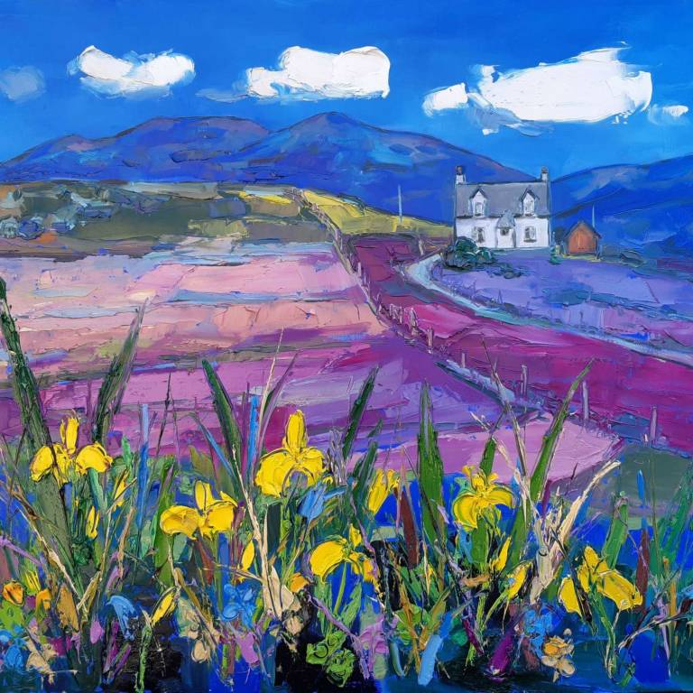 Judith I. Bridgland - Wild Irises On The Golden Road Harris