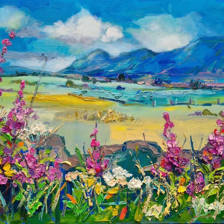 Judith I. Bridgland - Summer Hedgerow, The Campsies