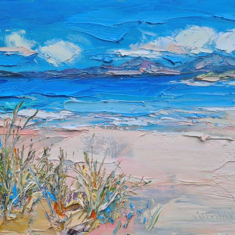 Judith I. Bridgland - Grasses On The Beach, Harris