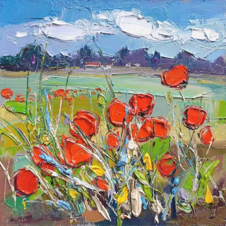 Judith I. Bridgland - Poppy Field Longniddry