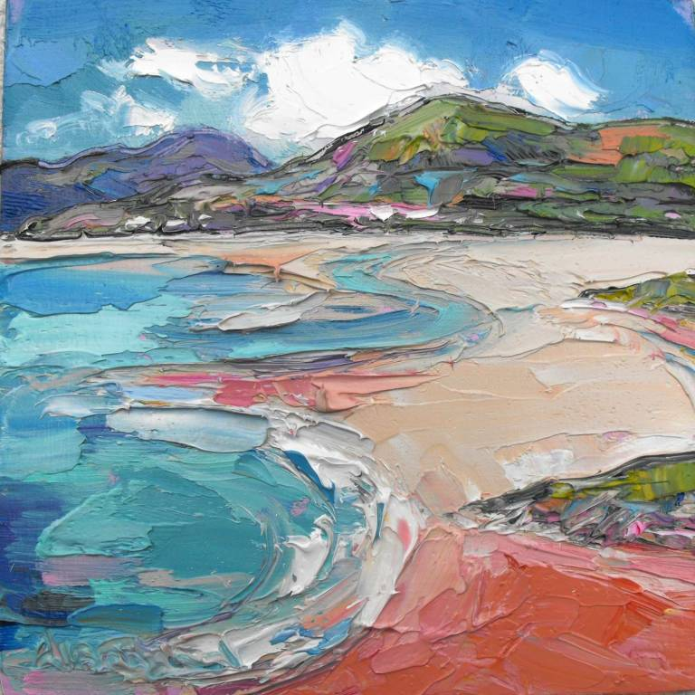 Judith I. Bridgland - Gentle Waves, Seilebost Beach, Harris