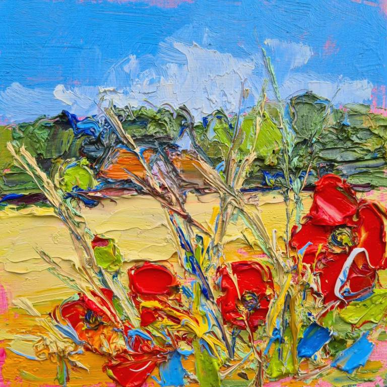 Judith I. Bridgland - Poppies At Preston Mill