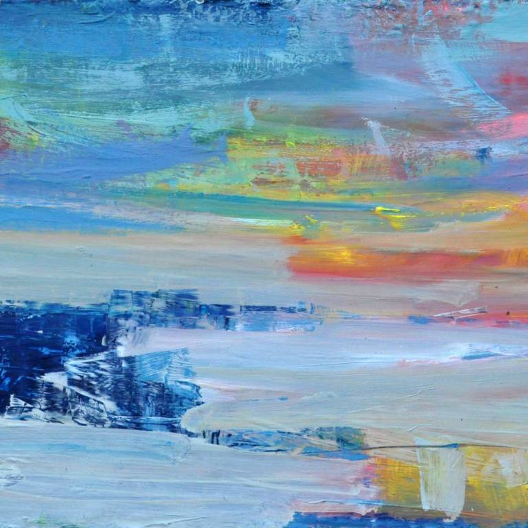 Mairi Clark - Sea Wall & Sunset, Fife