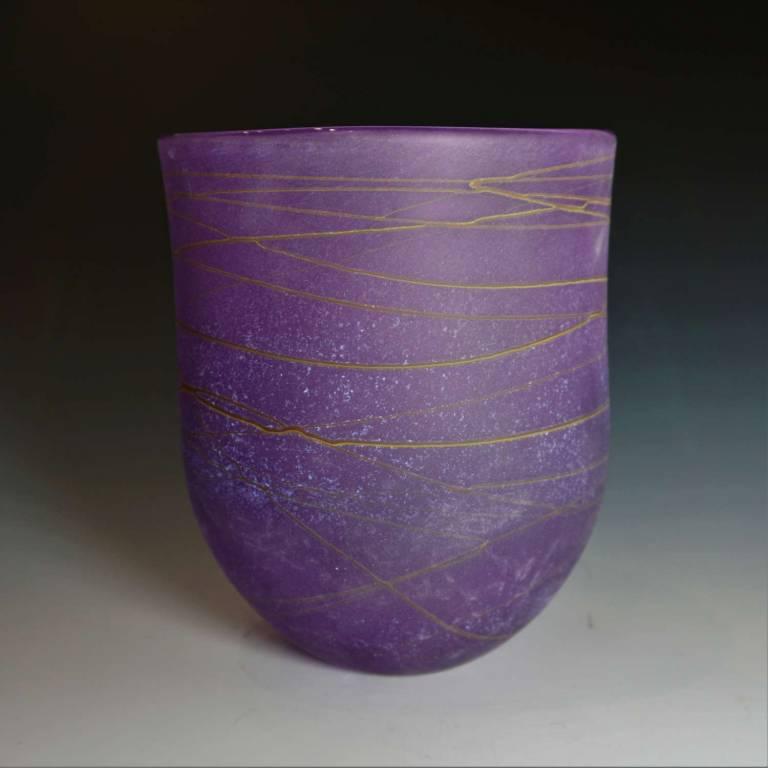 Random Open Vase Medium Purple