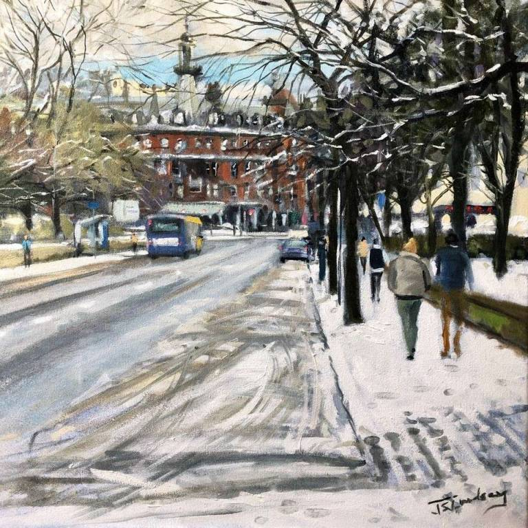 James Somerville Lindsay - Winter View to Charing Cross