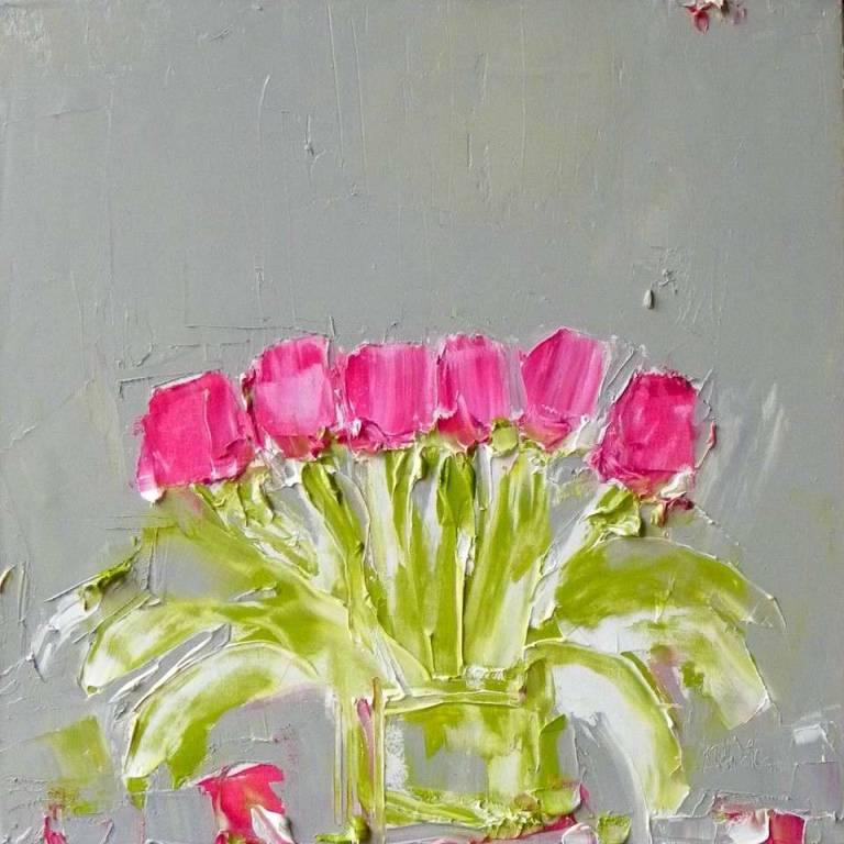 Tulips against Warm Grey