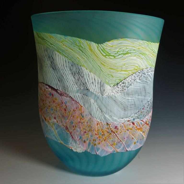Medium Flat Vase Sea Shore Flint